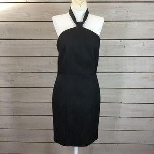 Rachel Zoe Black Choker Halter Dress